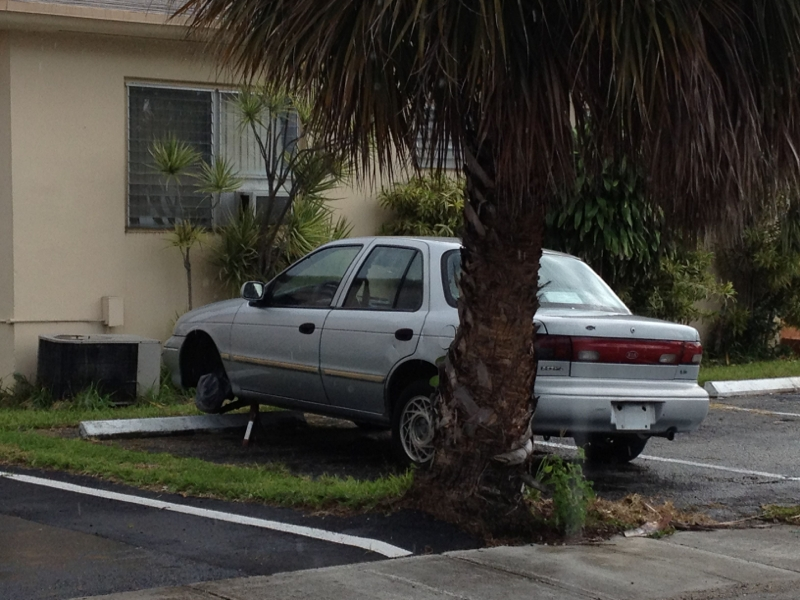 Abandoned Vehicle on Private Property in North Miami Beach