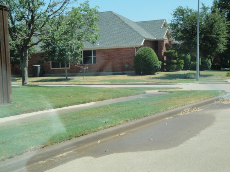 Watering Violation in Plano
